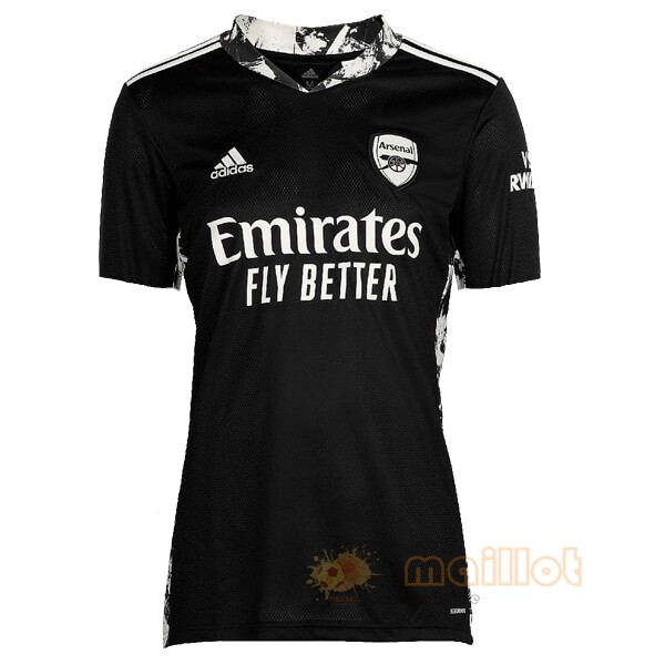 Domicile Maillot Gardien Arsenal 2020 2021 Noir Destockage Maillot De Foot