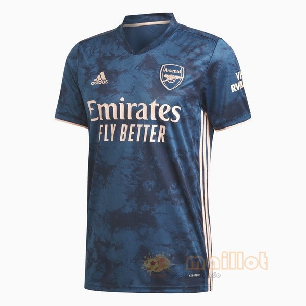 Thailande Third Maillot Arsenal 2020 2021 Bleu Destockage Maillot De Foot