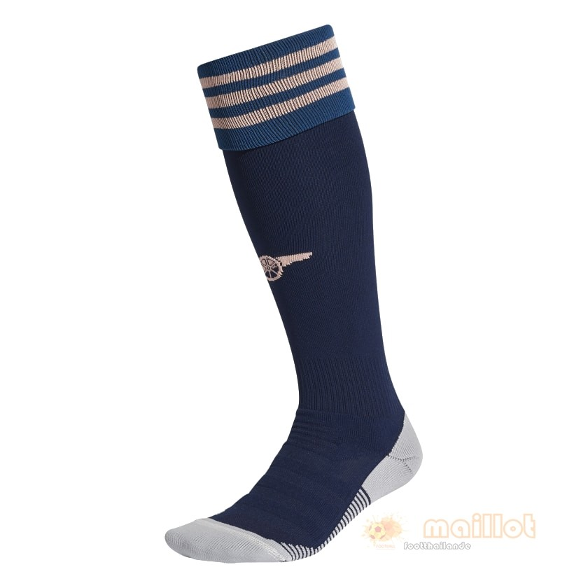 Third Chaussette Arsenal 2020 2021 Bleu Destockage Maillot De Foot