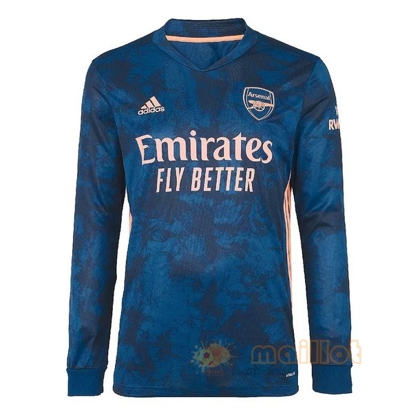 Third Manches Longues Arsenal 2020 2021 Bleu Destockage Maillot De Foot