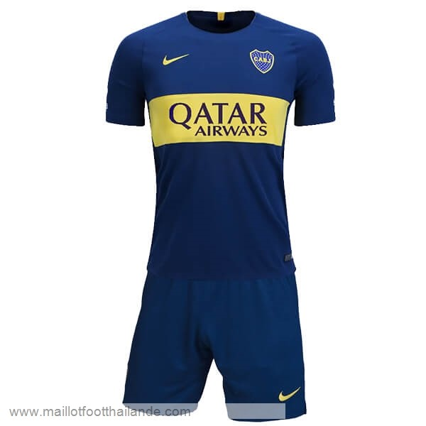 Domicile Ensemble Enfant Boca Juniors 2018 2019 Bleu Destockage Maillot De Foot