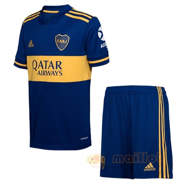 Domicile Ensemble Enfant Boca Juniors 2020 2021 Bleu Destockage Maillot De Foot