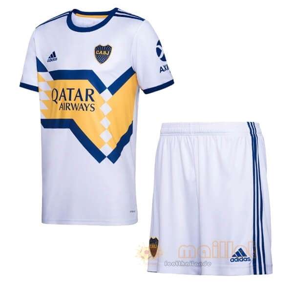 Exterieur Ensemble Enfant Boca Juniors 2020 2021 Blanc Destockage Maillot De Foot