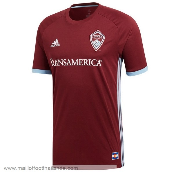Domicile Maillot Colorado Rapids 2018 2019 Rouge Destockage Maillot De Foot