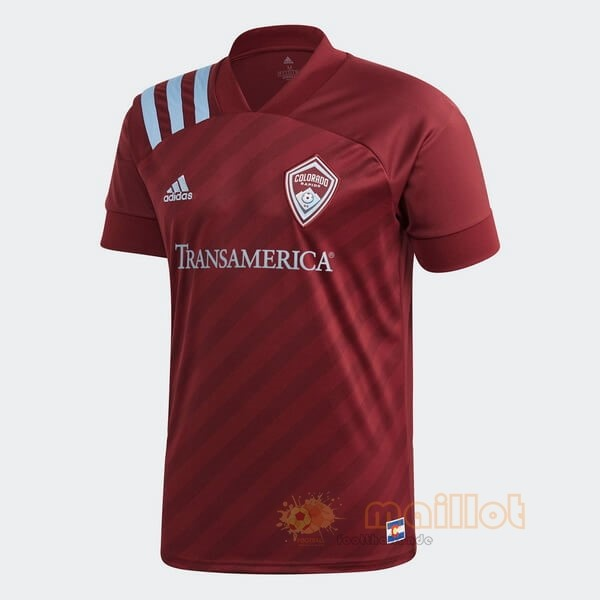 Domicile Maillot Colorado Rapids 2020 2021 Rouge Destockage Maillot De Foot