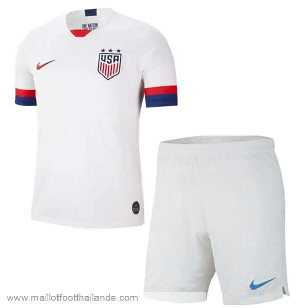 Domicile Ensemble Enfant Estados Unidos 2019 Blanc Destockage Maillot De Foot