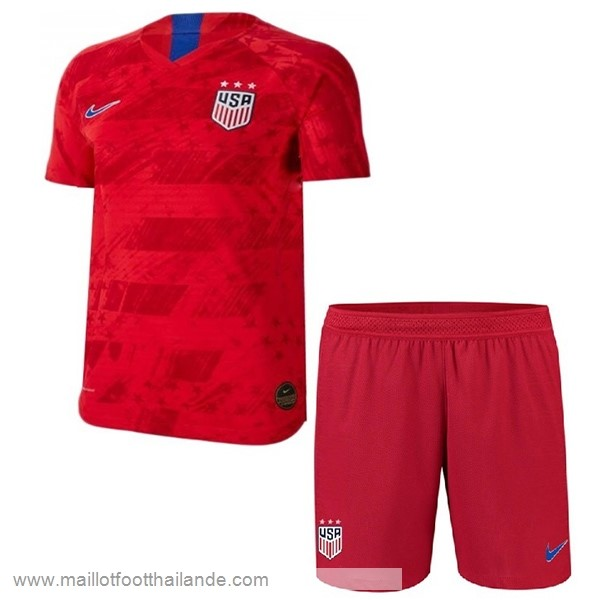 Exterieur Ensemble Enfant Estados Unidos 2019 Rouge Destockage Maillot De Foot