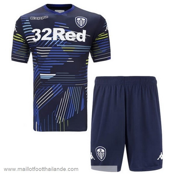 Exterieur Maillot Ensemble Enfant Leeds United 2018 2019 Noir Destockage Maillot De Foot