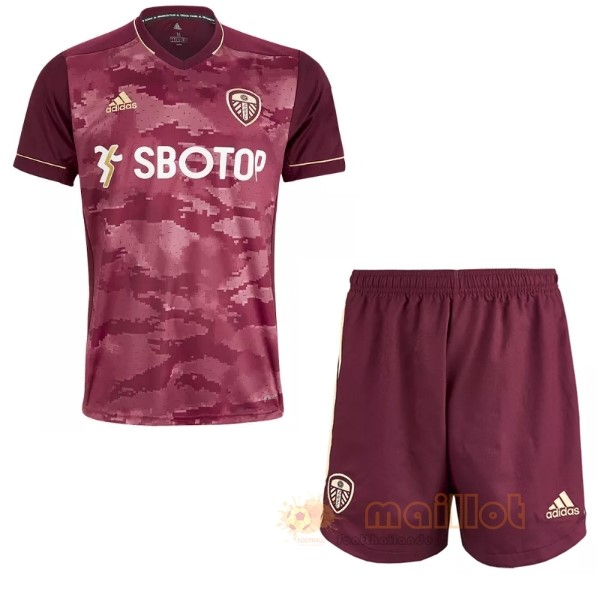 Tercera 19.50 Camiseta Conjunto De Enfant Leeds United 2020 2021 Bordeaux Destockage Maillot De Foot
