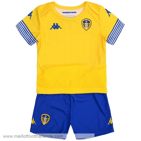 Third Maillot Ensemble Enfant Leeds United 2018 2019 Jaune Destockage Maillot De Foot