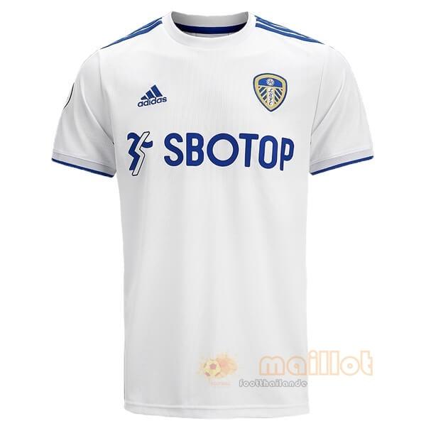 Domicile Maillot Leeds United 2020 2021 Blanc Destockage Maillot De Foot