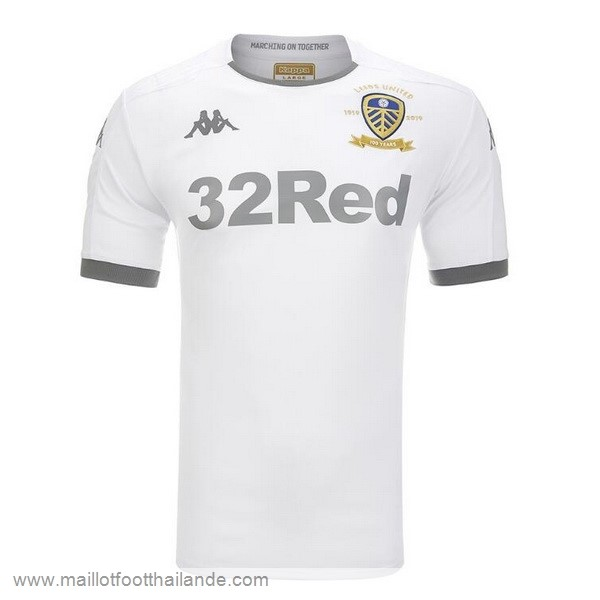Domicile Maillot Leeds United 2019 2020 Blanc Destockage Maillot De Foot