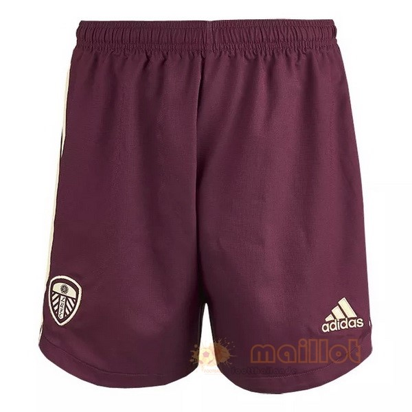 Tercera 9.90 Pantalones Leeds United 2020 2021 Bordeaux Destockage Maillot De Foot