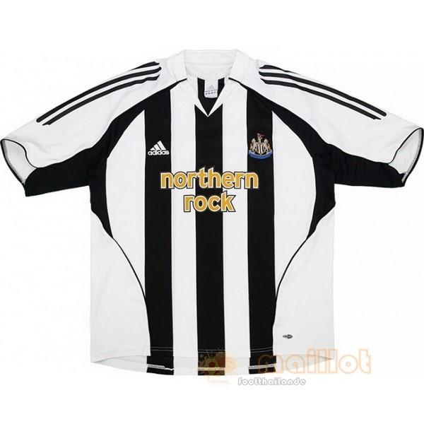 Domicile Maillot Newcastle United Rétro 2005 2006 Noir Blanc Destockage Maillot De Foot