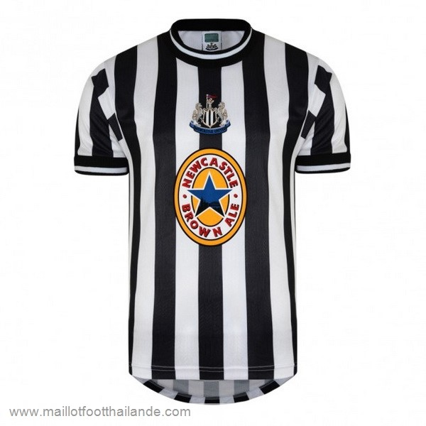 Domicile Maillot Newcastle United Retro 1997 1998 Noir Blanc Destockage Maillot De Foot