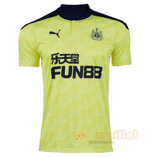Exterieur Maillot Newcastle United 2020 2021 Jaune Destockage Maillot De Foot