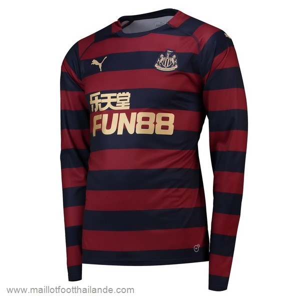Exterieur Manches Longues Newcastle United 2018 2019 Rouge Destockage Maillot De Foot