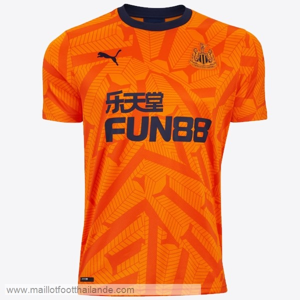 Third Maillot Newcastle United 2019 2020 Orange Destockage Maillot De Foot
