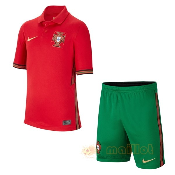Domicile Conjunto De Enfant Portugal 2020 Rouge Destockage Maillot De Foot