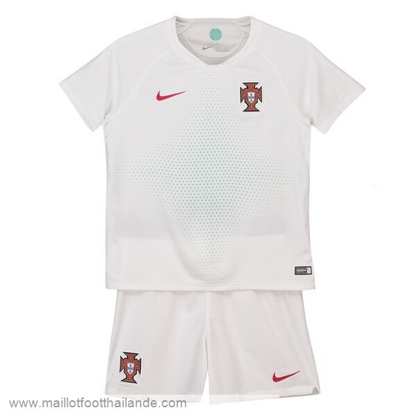 Exterieur Ensemble Enfant Portugal 2018 Blanc Destockage Maillot De Foot
