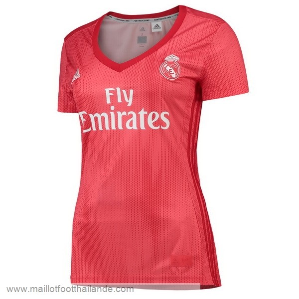 Third Maillot Femme Real Madrid 2018 2019 Rouge Destockage Maillot De Foot