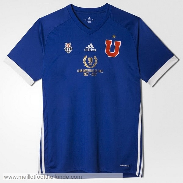 Domicile 90th Maillot Universidad De Chili 1927 2017 Bleu Destockage Maillot De Foot