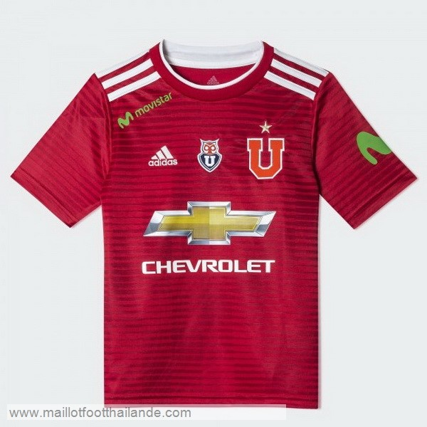 Exterieur Maillot Universidad De Chili 2018 2019 Rouge Destockage Maillot De Foot